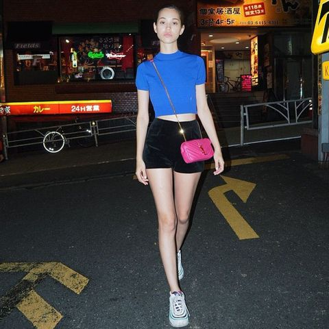 Leg, Human body, Human leg, Street fashion, Thigh, Knee, Snapshot, Waist, Calf, Signage,