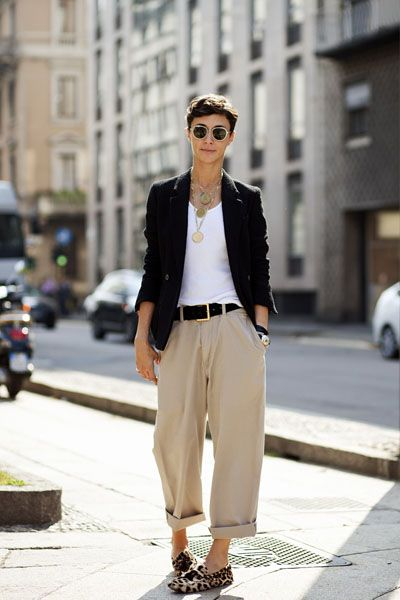 Clothing, Eyewear, Vision care, Glasses, Brown, Sunglasses, Collar, Trousers, Outerwear, Street fashion,