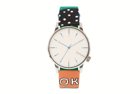 Blue, Product, Brown, Analog watch, Watch, Photograph, White, Fashion accessory, Glass, Aqua,