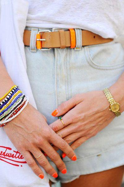 Finger, Wrist, Hand, Joint, Orange, Nail, Style, Fashion accessory, Fashion, Tan,