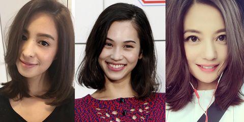 Smile, Lip, Eye, Hairstyle, Chin, Forehead, Eyebrow, Collar, Eyelash, Facial expression,