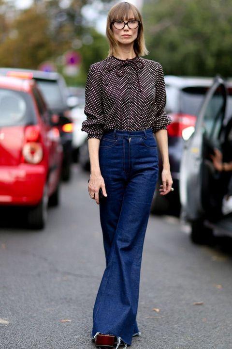 Clothing, Sleeve, Trousers, Denim, Textile, Collar, Pattern, Automotive tail & brake light, Style, Street fashion,