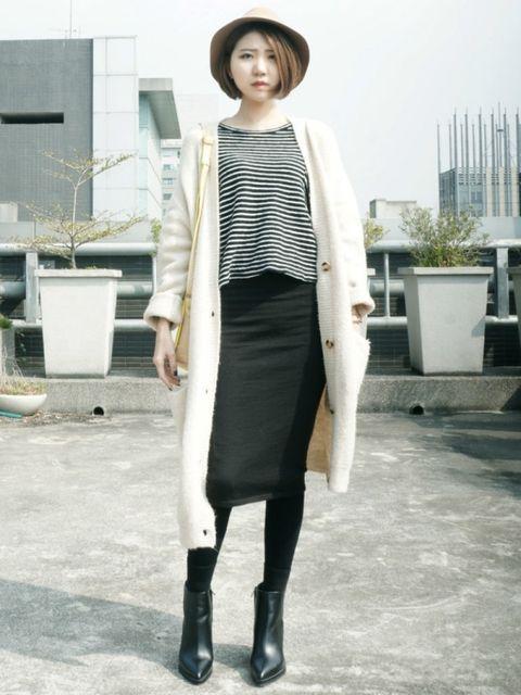 Clothing, Hat, Sleeve, Textile, Outerwear, Style, Coat, Street fashion, Headgear, Knee,