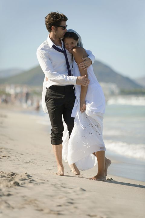 People on beach, Happy, People in nature, Sand, Summer, Interaction, Barefoot, Holiday, Beach, Love,