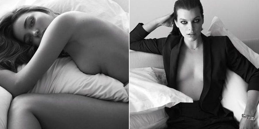 連女人都愛看的性感寫真!好萊塢女星拍攝親密床照