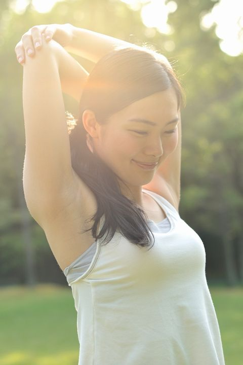 Lip, Hairstyle, Shoulder, Joint, Happy, People in nature, Summer, Leisure, Sunlight, Beauty,