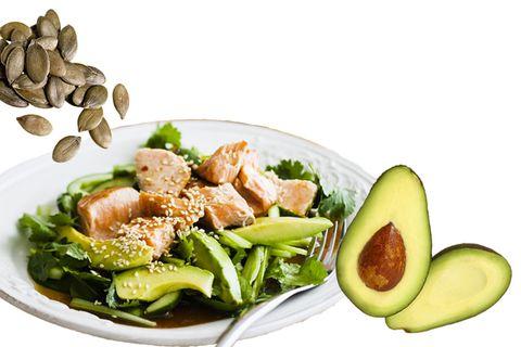 Food, Produce, Ingredient, Leaf vegetable, Tableware, Cuisine, Plate, Dishware, Natural foods, Vegetable,