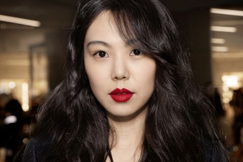 Nose, Mouth, Lip, Cheek, Hairstyle, Chin, Eyebrow, Eyelash, Jewellery, Black hair,