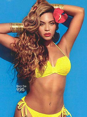 Hair, Hairstyle, Yellow, Abdomen, Muscle, Trunk, Waist, Beauty, Navel, Brassiere,