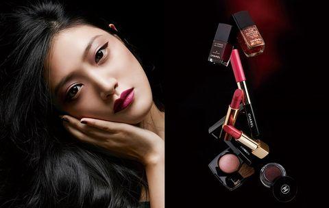 Lip, Skin, Eyebrow, Eyelash, Black hair, Beauty, Eye shadow, Eye liner, Model, Cosmetics,