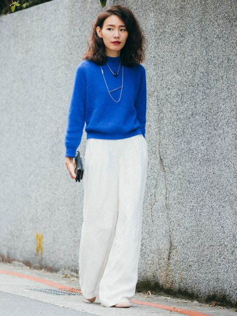 Clothing, Blue, Sleeve, Shoulder, Joint, Jewellery, Standing, Style, Street fashion, Fashion,