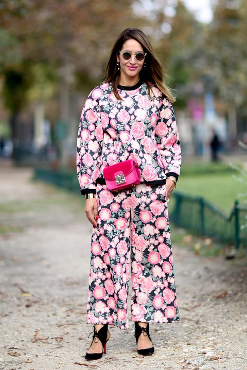 Clothing, Sleeve, Shoulder, Textile, Outerwear, Pink, Bag, Style, Street fashion, Pattern,