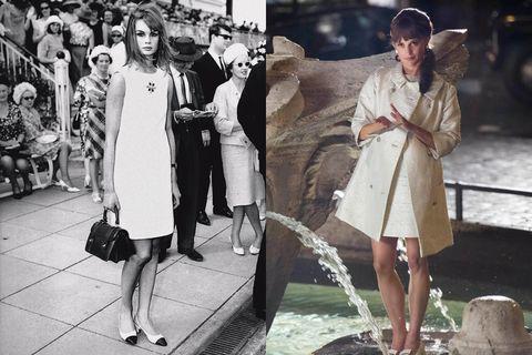 Style, Street fashion, Dress, Fashion, Vintage clothing, Fur, Snapshot, Overcoat, One-piece garment, Day dress,