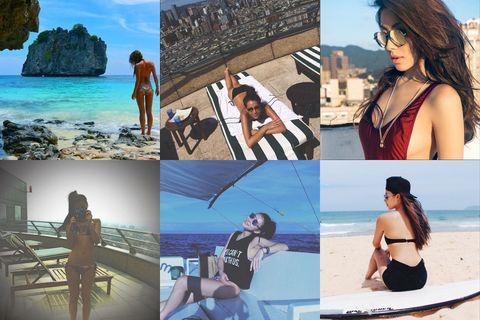 Arm, Coastal and oceanic landforms, Human body, Photograph, Leisure, Summer, Tourism, Beach, Beauty, Vacation,