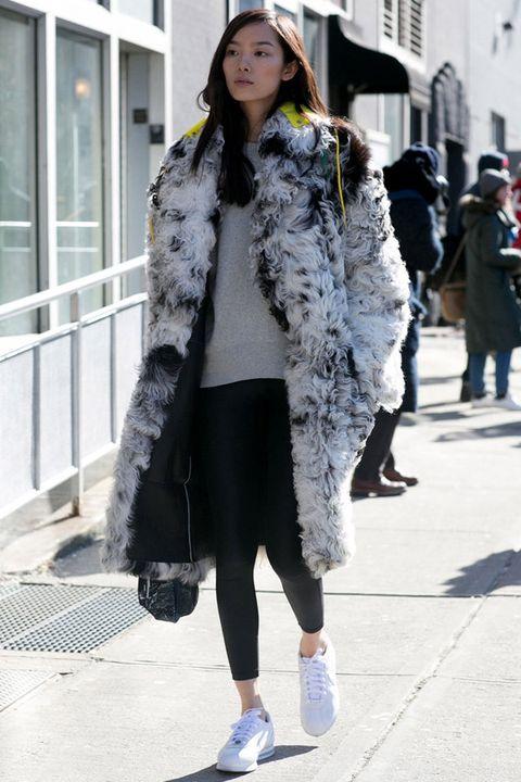Clothing, Footwear, Textile, Outerwear, Winter, Style, Street fashion, Street, Pattern, Fashion,