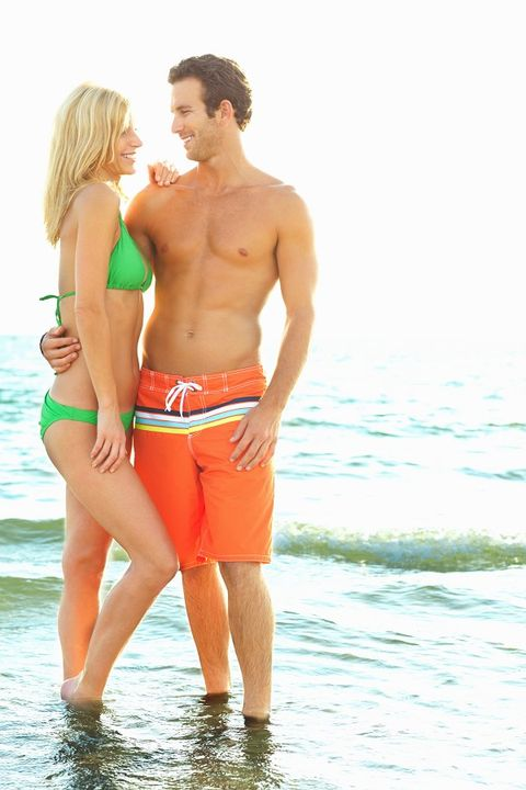 Fun, Human body, People on beach, Standing, People in nature, Summer, Interaction, Muscle, Holiday, Shorts,