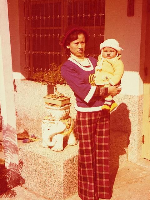 Love, Vintage clothing, Pajamas, Baby, One-piece garment, Family, Plaid, Tartan,