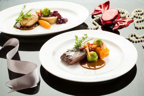 Food, Dishware, Serveware, Cuisine, Ingredient, Tableware, Dish, Culinary art, Plate, Meat,