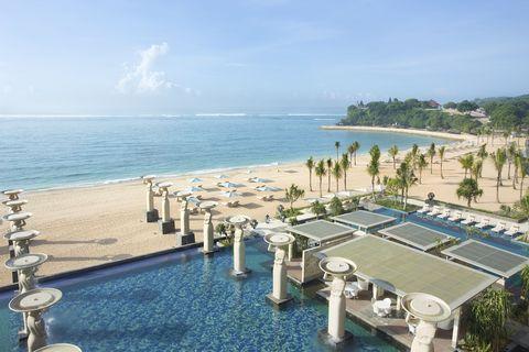 Body of water, Coastal and oceanic landforms, Swimming pool, Water, Resort, Tourism, Coast, Ocean, Sea, Shore,