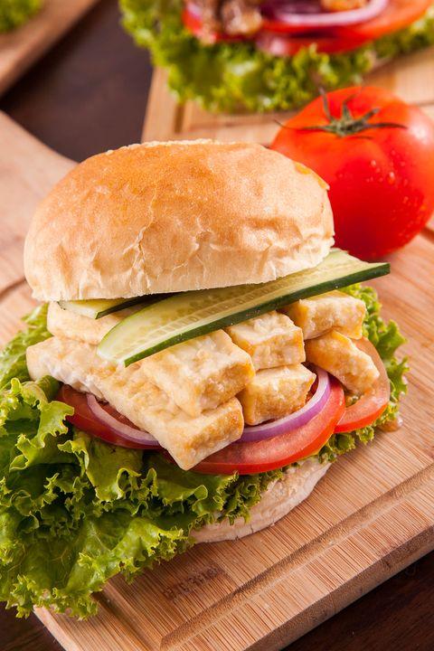 Food, Finger food, Cuisine, Sandwich, Ingredient, Vegetable, Leaf vegetable, Produce, Baked goods, Dish,