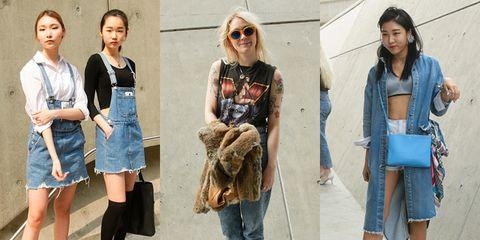 Clothing, Footwear, Leg, Denim, Bag, Textile, Outerwear, Street fashion, Style, Fashion accessory,