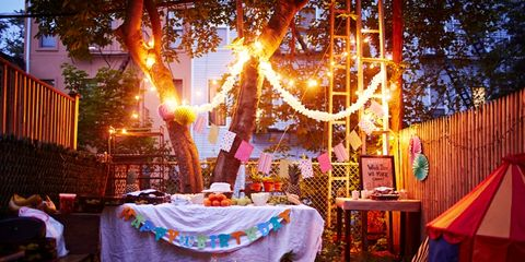 Tablecloth, Lighting, Decoration, Textile, Linens, Light, Orange, Holiday, Home accessories, Christmas lights,