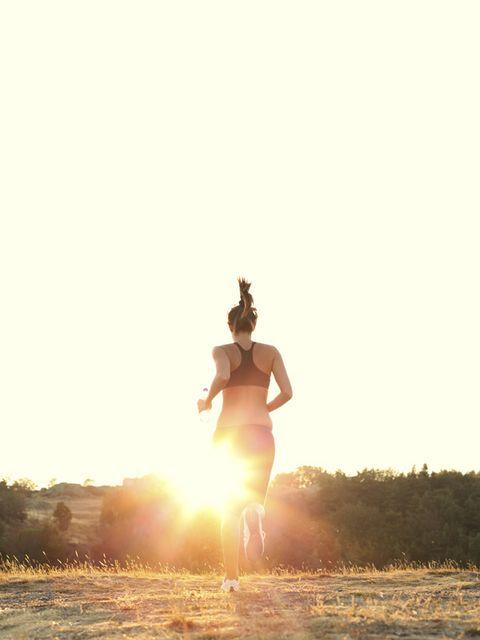 Happy, People in nature, Sunlight, Backlighting, Sun, Sunset, Heat, Balance, Running,