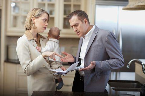 Interaction, Suit, Tie, Conversation, Suit trousers, White-collar worker, Light fixture, Love, Collaboration, Grandparent,