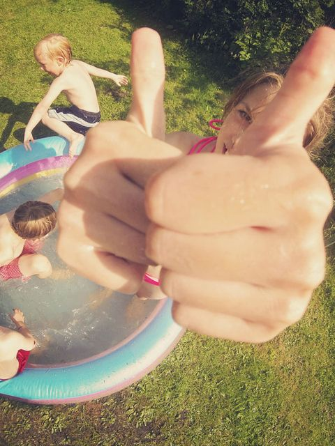 Human, Finger, Fun, Hand, People in nature, Summer, Thumb, Nail, Gesture, Play,
