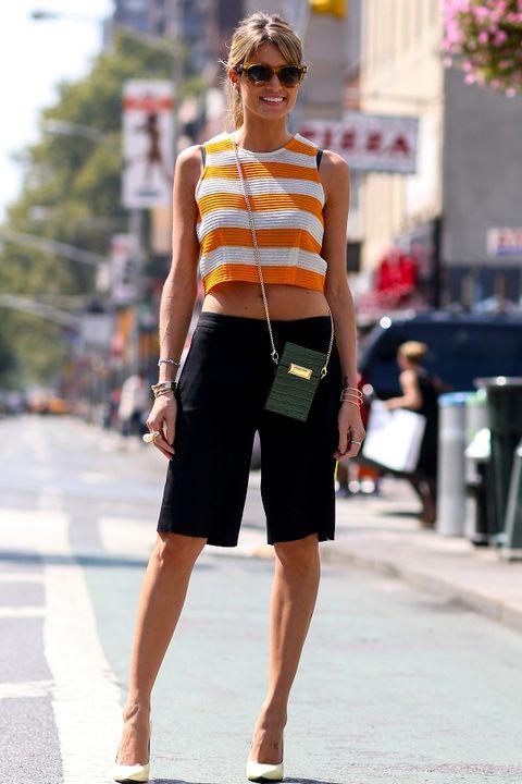 Clothing, Eyewear, Human leg, Shoulder, Joint, Bag, Sunglasses, Street, Summer, Street fashion,