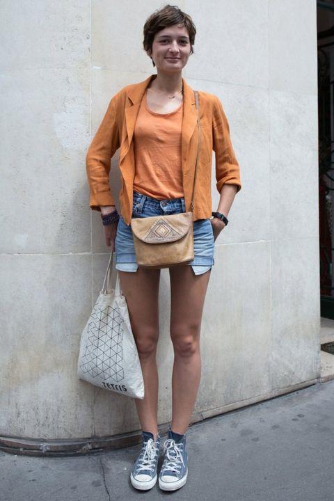 Clothing, Footwear, Leg, Human leg, Shoulder, Textile, Shoe, Outerwear, White, Style,