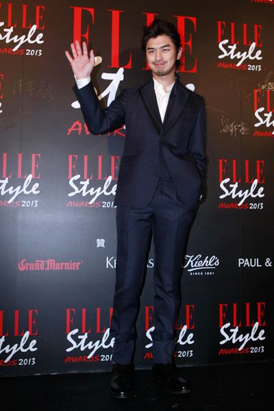 Coat, Suit, Red, Formal wear, Style, Dress shirt, Suit trousers, Blazer, Advertising, Premiere,