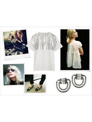 Product, Sleeve, Textile, White, Pattern, Style, Sunglasses, Fashion, Black, Street fashion,