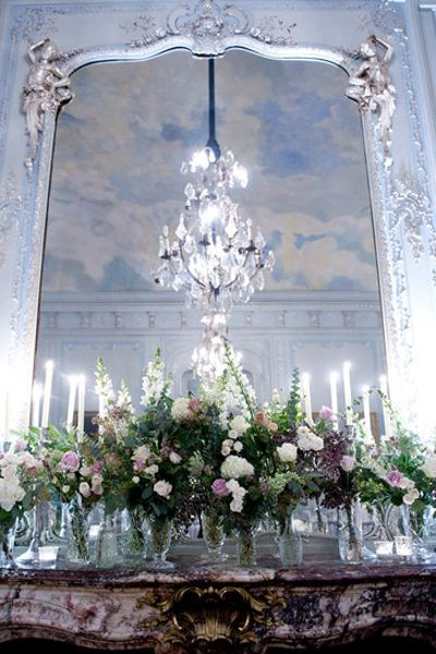 Petal, Flower Arranging, Floristry, Bouquet, Interior design, Light fixture, Floral design, Chandelier, Silver, Cut flowers,