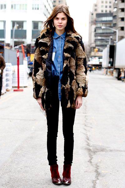 Winter, Fashion show, Textile, Outerwear, Style, Street fashion, Fashion model, Fur clothing, Street, Fashion,