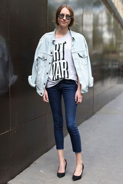Clothing, Product, Sleeve, Denim, Shoulder, Textile, Joint, Jeans, Outerwear, White,