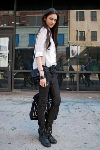 Clothing, Brown, Sleeve, Shirt, Outerwear, Collar, Boot, Style, Street fashion, Knee,