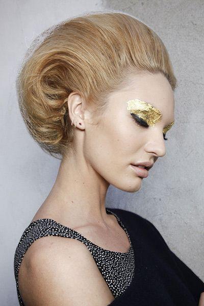 Ear, Hairstyle, Eyelash, Earrings, Style, Beauty, Neck, Blond, Eye shadow, Eye liner,