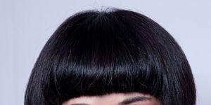 Nose, Lip, Mouth, Hairstyle, Chin, Forehead, Eyebrow, Bangs, Eyelash, Style,
