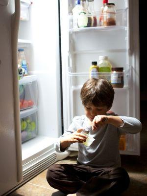 Human body, Shoe, Freezer, Standing, Major appliance, Elbow, Refrigerator, Child, Bottle, Kitchen appliance,
