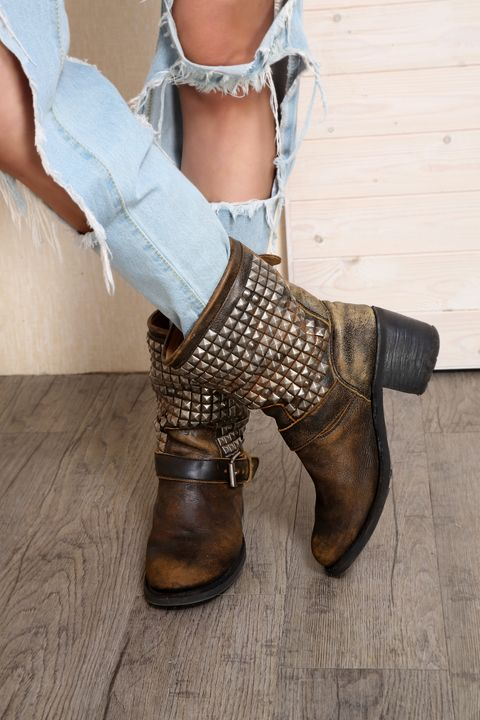 Boot, Fashion, Hardwood, Tan, Liver, Bronze, Leather, Knee-high boot, Undergarment, Riding boot,