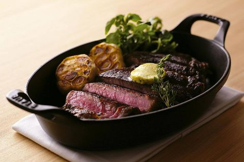 Dish, Food, Cuisine, Ingredient, Flat iron steak, Venison, Steak, Beef tenderloin, Kobe beef, Sirloin steak,