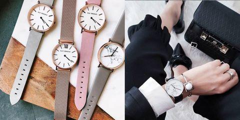 Watch, Analog watch, Watch accessory, Wrist, Fashion accessory, Arm, Fashion, Strap, Material property, Hand,