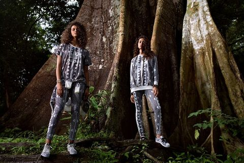 Trousers, Denim, Textile, Jeans, People in nature, Woody plant, Street fashion, Cool, Trunk, Tints and shades,