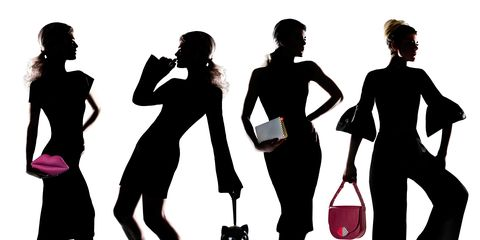People, Social group, Band plays, Standing, Youth, Waist, Luggage and bags, Baggage, Illustration, Silhouette,