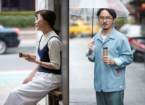 Sleeve, Umbrella, Collar, Shirt, Dress shirt, Street fashion, Bag, Street, Auto part, Pocket,