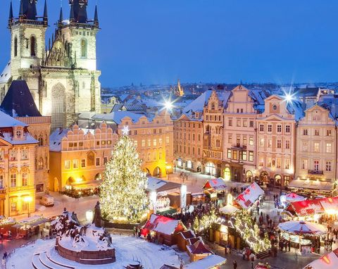 Winter, Window, City, Public space, Town, Landmark, Night, Town square, Holiday, Christmas,