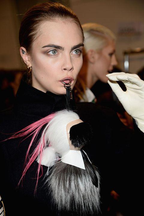 Lip, Hairstyle, Earrings, Eyebrow, Eyelash, Feather, Eye shadow, Fur, Eye liner, Makeover,