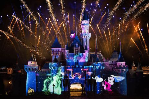 Event, Night, Purple, Walt disney world, Fireworks, Midnight, Majorelle blue, Holiday, World, Public event,