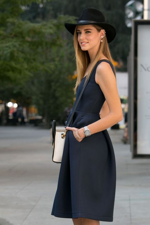 Clothing, Hat, Sleeve, Shoulder, Dress, Joint, Bag, Outerwear, Fashion accessory, Style,